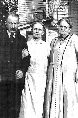 Henry E. N. Conard (27), his wife Mary Price and his sister Ellen (25)